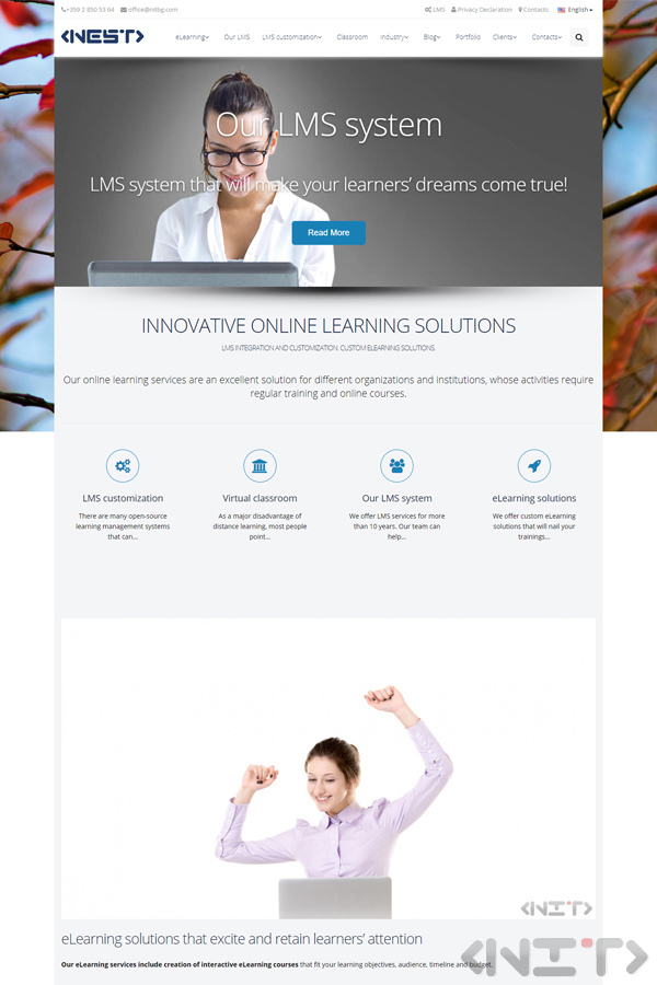Website development for Learning Management Systems by NIT - New Internet Technologies Ltd