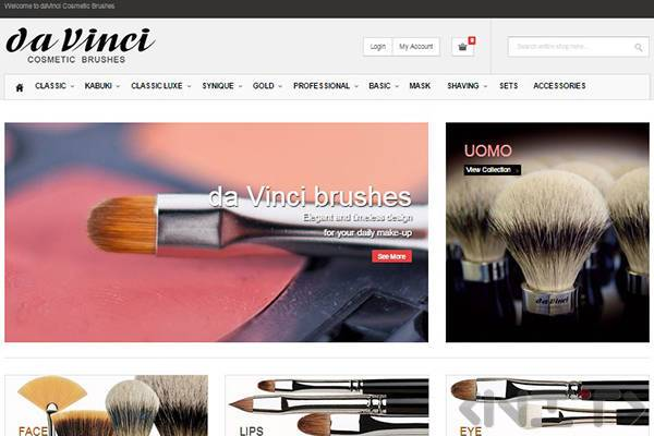 Online store development for Da Vinci Cosmetic Brushes by NIT-New Internet Technologies Ltd_1