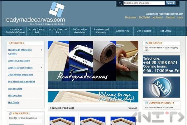 Online store development for Readymadecanvas.com by NIT-New Internet Technologies Ltd_1