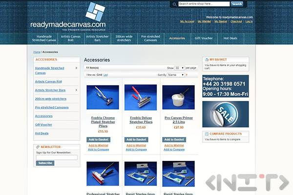 Online store development for Readymadecanvas.com by NIT-New Internet Technologies Ltd_3