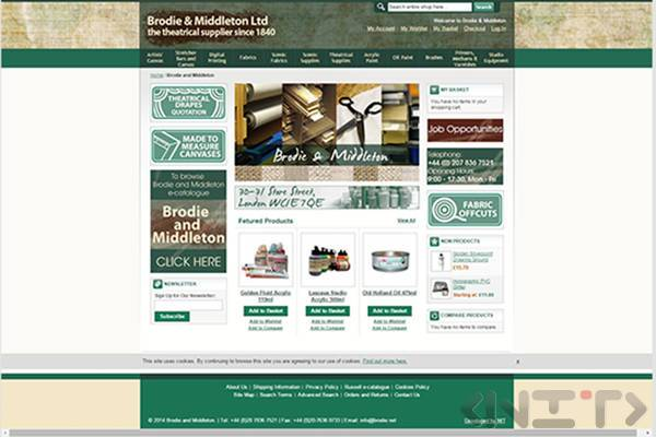 Online store development for Brodie&Middleton Ltd by NIT-New Internet Technologies Ltd._1